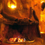 Restaurant Fireplace © Chui Lodge